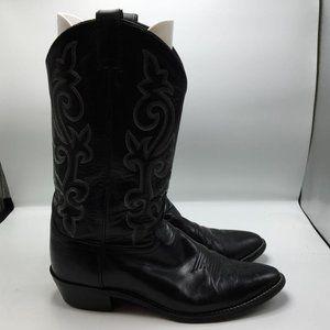 Justin Men's Cowboy Western Boots Black Size 11